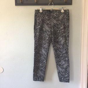 Banana Republic Sloan Black and White Pants